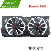 95mm pld10015s12h fd10015h12s 0.55a 5pin refrigerador ventilador para asus strix gtx 970 980 780 ti r9 380 placa de vídeo gráfica ventilador de refrigeração