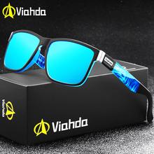 Viahda 2020 Popular Brand Polarized Sunglasses Men Sport Sun Glasses For Women Travel Gafas De Sol cheap Goggle Adult Plastic Mirror UV400 47mm Eyewear 61mm