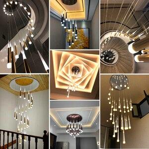 Image 5 - led подвесные светильники,люстра потолочная,освещение в помещении люстра гостиной, спальни Подвесная лампа, украшение лестницы, подвесные люстры светодиодные потолочные, светодиодное люстры для гостинной светильник