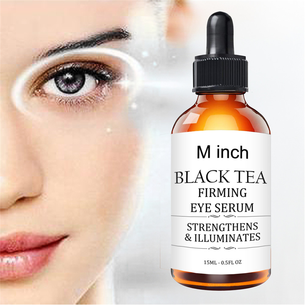 Minch Black Tea Eye Serum Anti-Wrinkle Remover Dark Circles Eye Essential Oil Against Puffiness And Bags Eye Care Serum 15ml