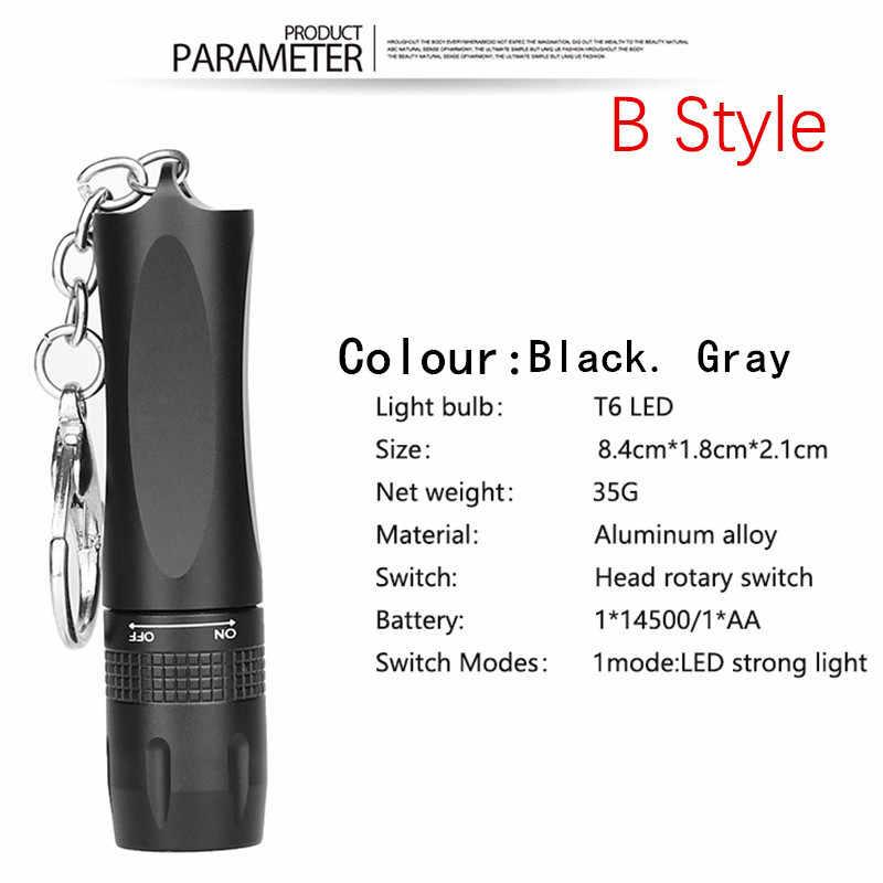 1 Model Mini taşınabilir küçük kalemlik Led el feneri gece yürüyüş aydınlatma araba bakım çalışma Torch alüminyum alaşım