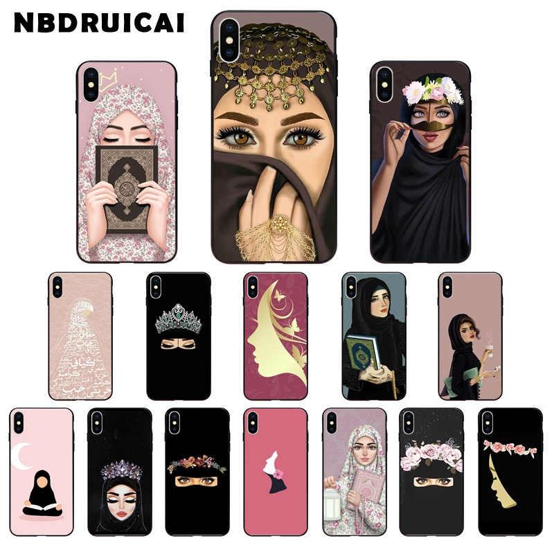 Nbdruicai Mewah Wanita Di Hijab Wajah Muslim Seperti Mata untuk iPhone 11 Pro XS MAX 8 7 6 6S Plus X 5 5S SE XR Case