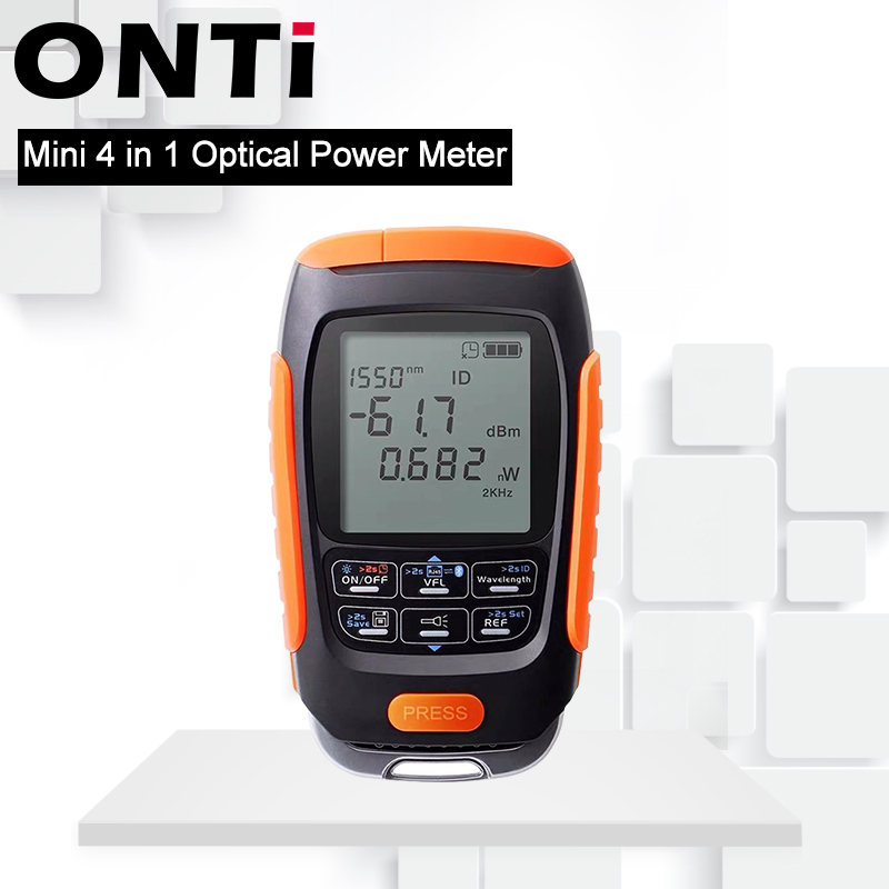 ONTi 4in1 Li-lion Battery Optical Power Meter Visual Fault Locator Network Cable Test Optical Fiber Tester 5km 15km 30km VFL