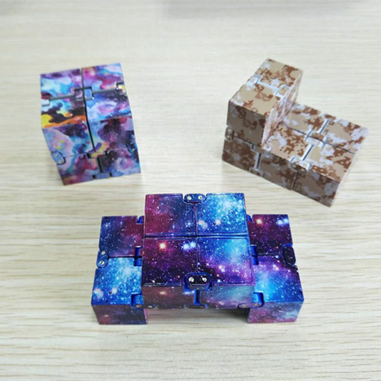 7 Pack Fidget Sensory Toy Set Stress Relief Toys Autism Anxiety Relief Stress Infinity Cube Fidget Sensory Toy for Kids Adults img2