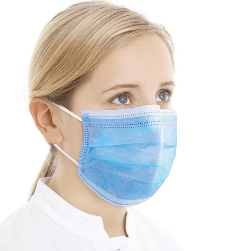 20/50/100pcs Disposable Mask Three-layer Dust-proof Breathable Mask Earloops Masks