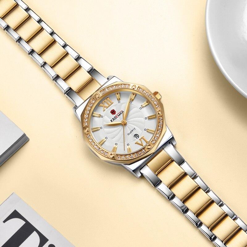 2019 Ladies Watches TOP Luxury Crystal Dress Women Wristwatch Bracelet 3TAM Quartz Watch Full Steel Casual Business Brand Clock in Women 39 s Watches from Watches