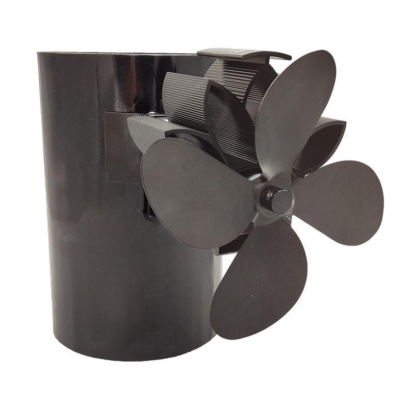 Heat Powered Stove Fan Upgrade Designed Silent Operation 4 Blades With Magnetic Attraction For Fireplace