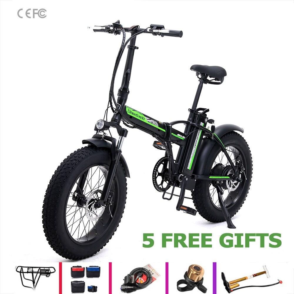 Elektrische Fahrrad sheng milo 48v Batterie Elektrisches fahrrad 500w Motorrad ebike 20-zoll Tragbare Mountainbike schnee ebike