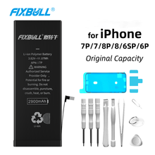 FIXBULL Lithium Battery For Apple iPhone 6 6S 7 8 Plus 6Plus 6SPlus 7Plus 8Plus Phone Bateria For iPhone7 iPhone6s Real Capacity coque 7plus 8plus 6plus couple simple leather flip wallet case for apple iphone 11 11pro max 6 7 8 plus x xs max xr card cover