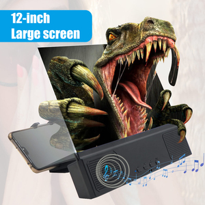 Image 5 - Besegad 3 in 1 12inch 3D HD Mobile Phone Screen Amplifier Magnifier Projector with Bluetooth Speaker Mobile Power Function