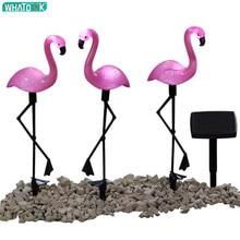 купить LED Solar Garden Light Flamingo Owl Lawn Lamp Waterproof Solar Led Lights Outdoor lighting Night Light Decorative Home Garden дешево