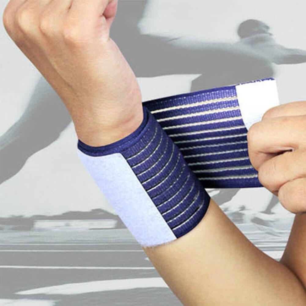 Elastic Sport Bandage Wristband Hand Gym Support Wrist Brace Wrap Tennis Cotton Weat Band Fitness Powerlifting