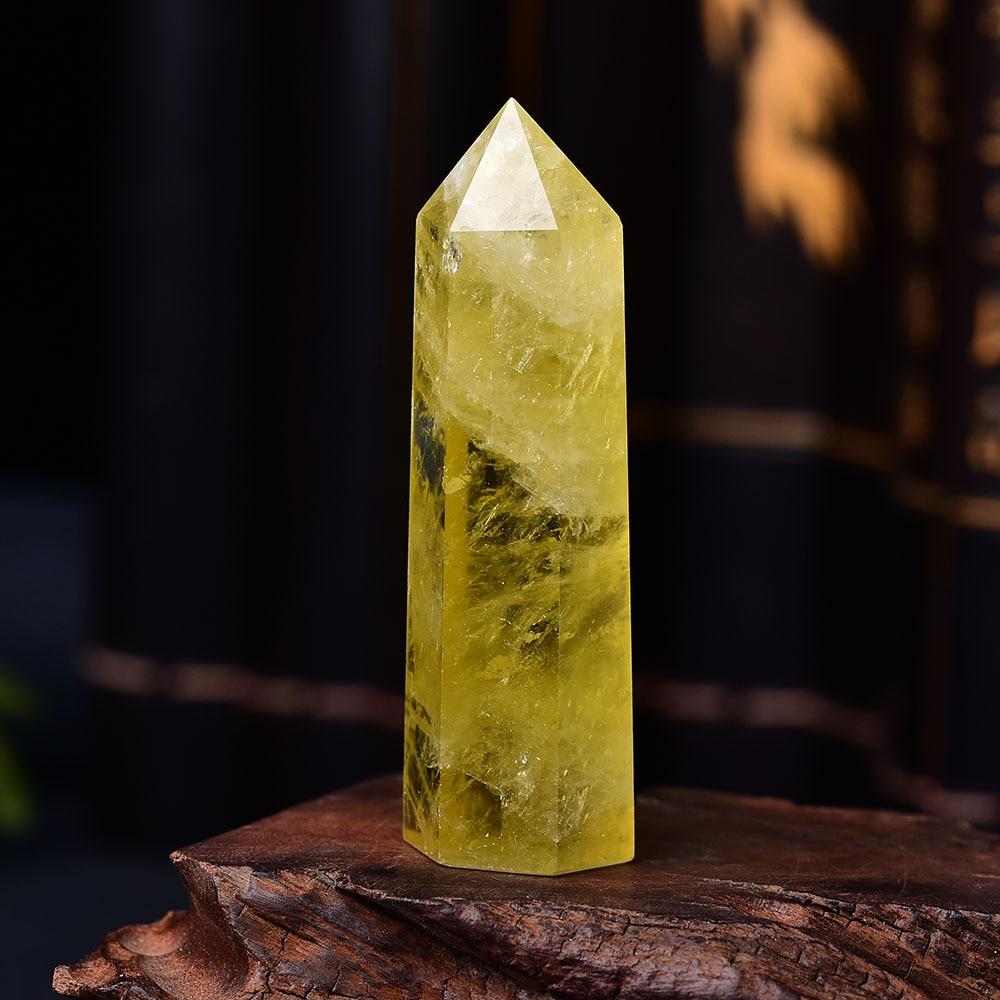 1 шт. натуральный цитрин КРИСТАЛЛ ТОЧКА исцеления обелиск желтый кварц палочка красивый орнамент для домашнего декора камень «Reiki» пирамида