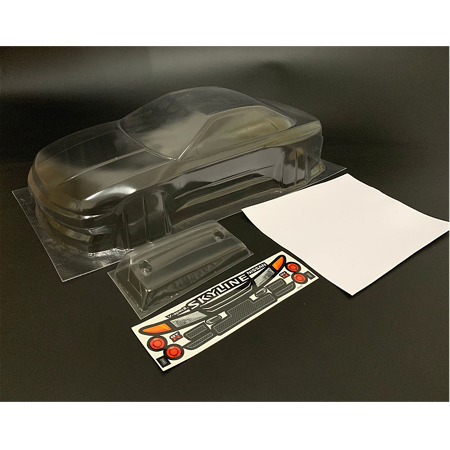 Skyline R32 Toys Model Clear <font><b>Body</b></font> Shell With Sticker For <font><b>1</b></font>/<font><b>10</b></font> Scale <font><b>Rc</b></font> Drift Car <font><b>Tamiya</b></font> Hpi Hsp YOKOMO On-Road Rally Cars image