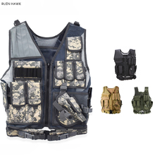цена на Tactical Molle Vest Men Hunting Armor Vest Military Equipment Airsoft Paintball CS Combat Protective Armed Vest
