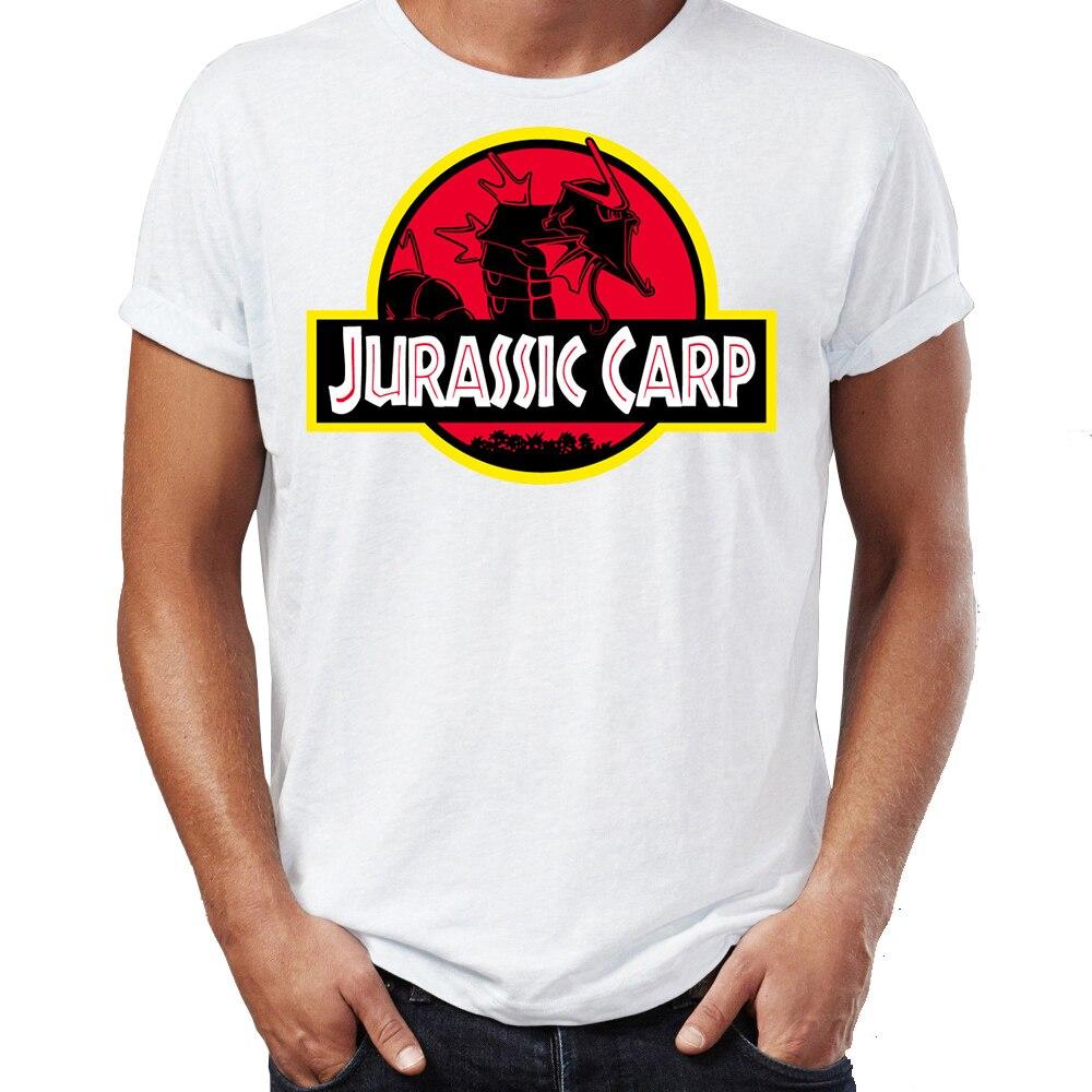 Brand New Men T Shirts 100% Cotton Jurassic Karp Magikarp Gyarados Pokemon Funny Awesome Artwork Printed Tee Shirts Oversize