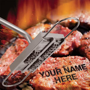Forks Barbecue-Tool-Accessories Iron Bbq-Steak-Tool Meat-Grill Kitchen Stuff Branding