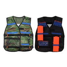 NEW 54 *47cm For Children New Kit Tactic Vest Tactic In The Fresh Air Adjustable For N -strike Nerf Elite Vest Top Quality Game new tactical vest kit safety vests adjustable with storage closing pockets fit for nerf n strike elite team games hunting vest