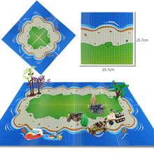 32*32Dots Classic Island Seaside Baseplate Compatible All Brand DIY Building Blocks Base Plate Bricks Toys For Children Gift