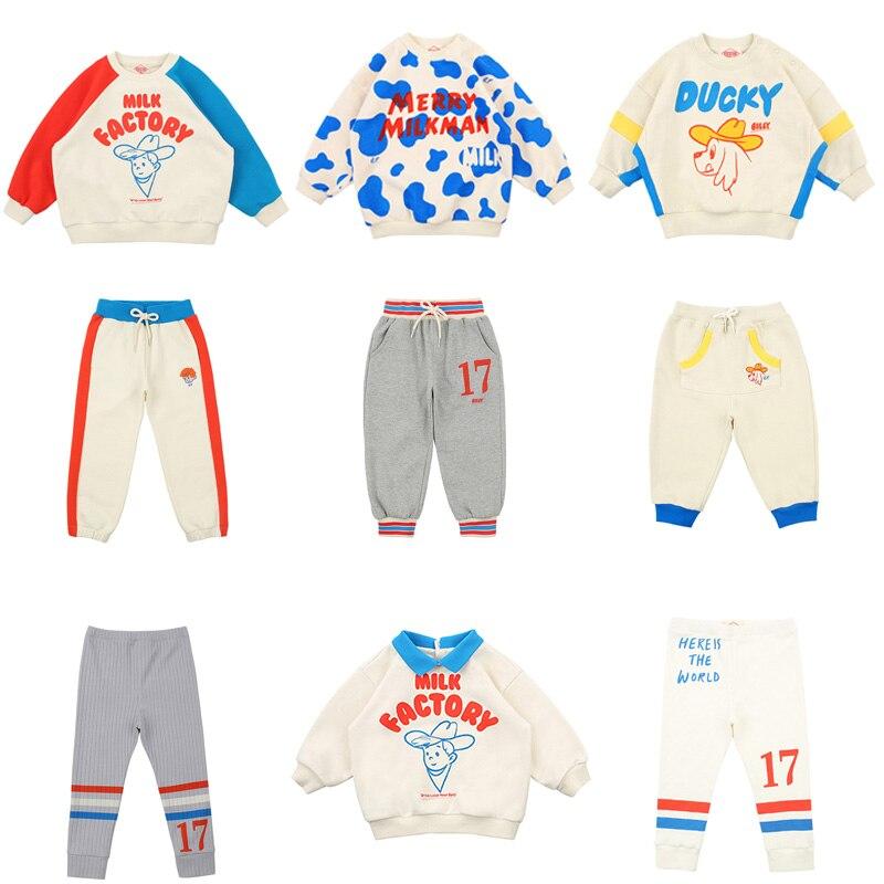 2020 BEBE Brand New Spring Kids Sweaters For Boys Girls Cartoon Print Sweatshirts Baby Children Cotton Fashion Outwear Clothes