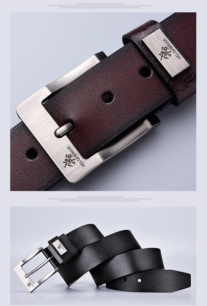Hdaf72c0c23964719baad1729b6ba75f10 - NO.ONEPAUL cow genuine leather luxury strap male belts for men new fashion classice vintage pin buckle men belt High Quality