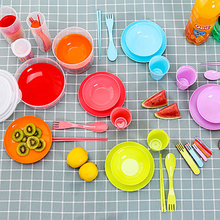 Camping Cookware Outdoor Set Tableware Cooking Picnic BBQ Soup Plate Bowl Chopsticks Spoon Fork Cutter