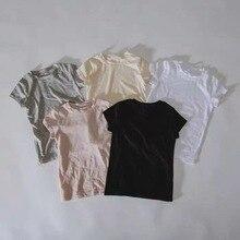 T-Shirt Newborn Infant Baby-Boy-Girl Summer Cotton Kid Solid Short Soft-Tops Breathable