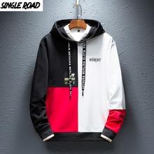 SingleRoad Mens Fashion Hoodies Men 2020 Winter Hip Hop Japanese Streetwear Harajuku Colorblock Patchwork Sweatshirt Hoodie Men