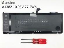 Onevan 10.95v 77.5wh nova bateria do portátil original para apple macbook pro 15 a1286 2011 2012 series a1382 mc723 mc721