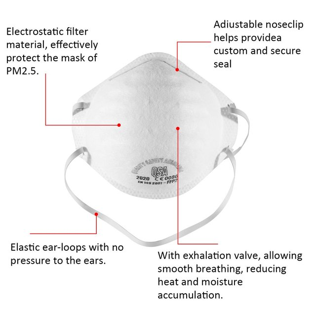 Dust Mask Antivirus flu anti infection Particulate Respirator FFP2 Level Anti-fog PM2.5 ProtectMask Safety Masks Dropshipping 3