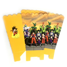 30pcs/lot Baby Shower Birthday Party Kids Favors Gifts Candy Box Dragon Ball Paperboard Popcorn Boxes Decorate Events Supplies