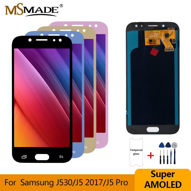 Super AMOLED For <font><b>Samsung</b></font> <font><b>Galaxy</b></font> <font><b>J5</b></font> <font><b>2017</b></font> <font><b>J5</b></font> Pro J530 LCD <font><b>Display</b></font> Touch Screen Digitizer Assembly Replacement Parts For J530F LCD image