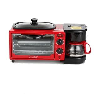 YTK Бытовая многофункциональная 4L 1050 Вт машина для завтрака мини-электрическая духовка Тостер для хлеба сковорода встроенный кофейный омлет