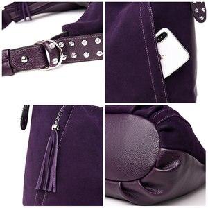 Image 5 - New Buckskin Suede Crossbody Bags For Women 2020 Luxury Handbags Women Bags Designer Vintage High Quality Shoulder Bag For Lady