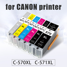 Topcolor Compatible for Canon PGI 570 CLI 571 XL Ink Cartridge Full for Canon Pixma Print MG5750 5751 5752 MG6850 MG7750 TS5051 befon x4 black cartridge replacement for canon pgi570 pgi 570 pgi 570 xl ink cartridge for mg7750 7751 6850 mg7752 7753 printer