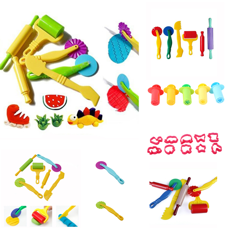 Color Play Dough Model Tool Toys Creative 3D Plasticine Tools Clay Moulds Set Many Style Learning Education Play Dough Set Toys
