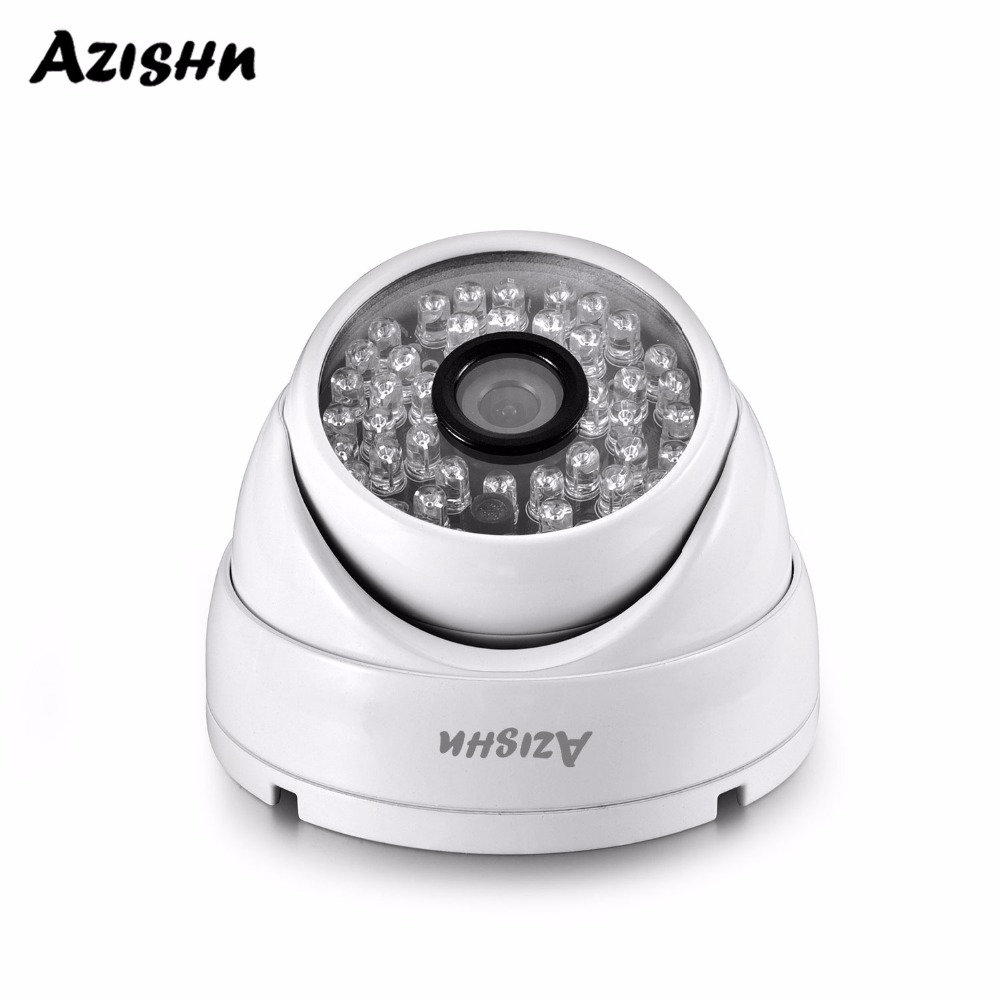 AZISHN Full HD 3MP 1080P POE Security Dome Camera ONVIF H.265AI IR Night Vision Outdoor Waterproof Metal Surveillance Cam