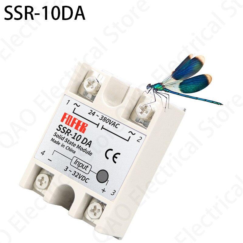 1 entrada 24-380vac da c.c. do módulo 3-32v do relé do estado sólido dos pces SSR-10DA 10a