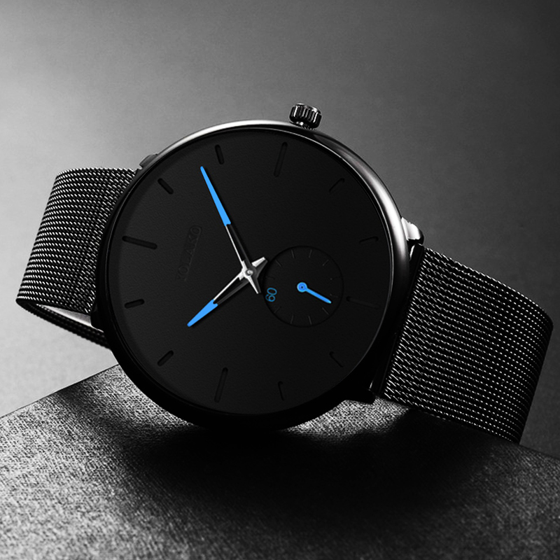 Top Brand Luxury Quartz Watch Relogio Masculino DONROSIN Men Casual Slim Mesh Steel Waterproof Sport Watch Fashion Mens Watches