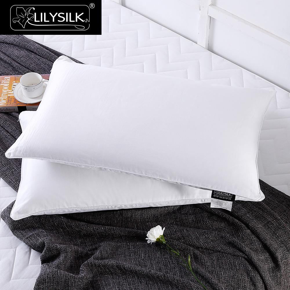 LilySilk ผ้าไหมหมอนผ้าฝ้ายบริสุทธิ์ 100 ผ้าไหมหมอนสำหรับ sleeping ธรรมชาติสิ่งทอหน้าแรกจัดส่งฟรี-ใน หมอนประดับตกแต่ง จาก บ้านและสวน บน   1