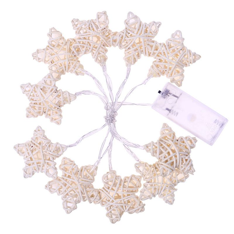 1.1M 10Led Star Rattan String Lights Led Fairy Lights Christmas Wedding Decoration Lights Battery Operate Lights