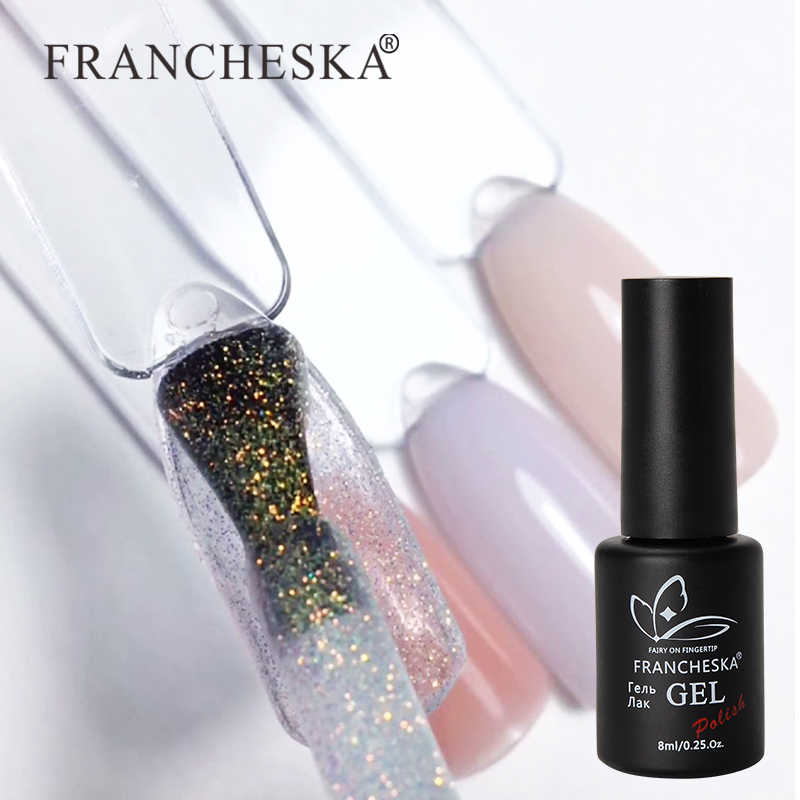 1 Pcs FRANCHESKA Kuku Starlight Opal Uv Gel Fototerapi Cat Kuku Baru Flash Bubuk Nail Polish 8Ml Nail Art dekorasi Kuku TSLM1