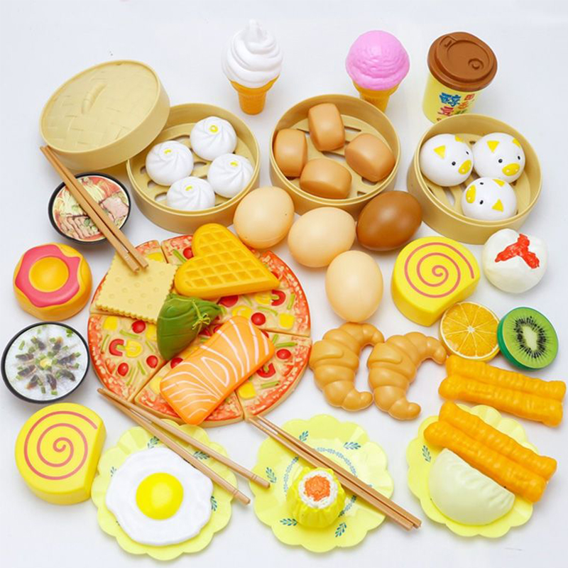 Toys Products For Kitchen Enfant Hamburger Toy Cooking Bun Food Steamer Pretend Role Play House Toy Kitchen Pizza Ice-cream Kid
