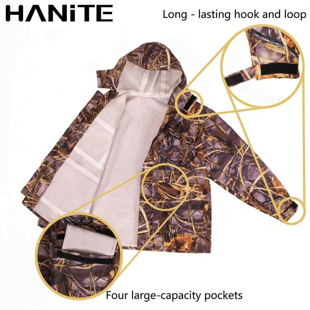 HANITE Multifunktionale Wasserdicht und Winddicht Waten Jacke, Atmungsaktiv Regen Mantel