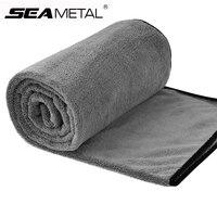 Toalla de microfibra para lavado de coche, 100x40CM, toallas para pulir automóviles, paño de limpieza de secado grueso para el Cuidado de Automóviles