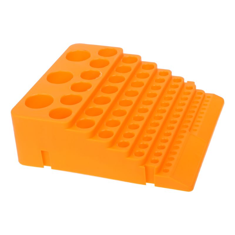 84 Holes Multifunctional Thickened Milling Cutter Reamer Drill Bit Storage Box Tool Accessories Organizer 6XDD