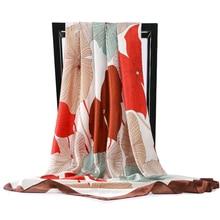Silk Scarves Square-Head Luxury Brand Shawls Wraps Printed Fashion New Autumn Thin Women