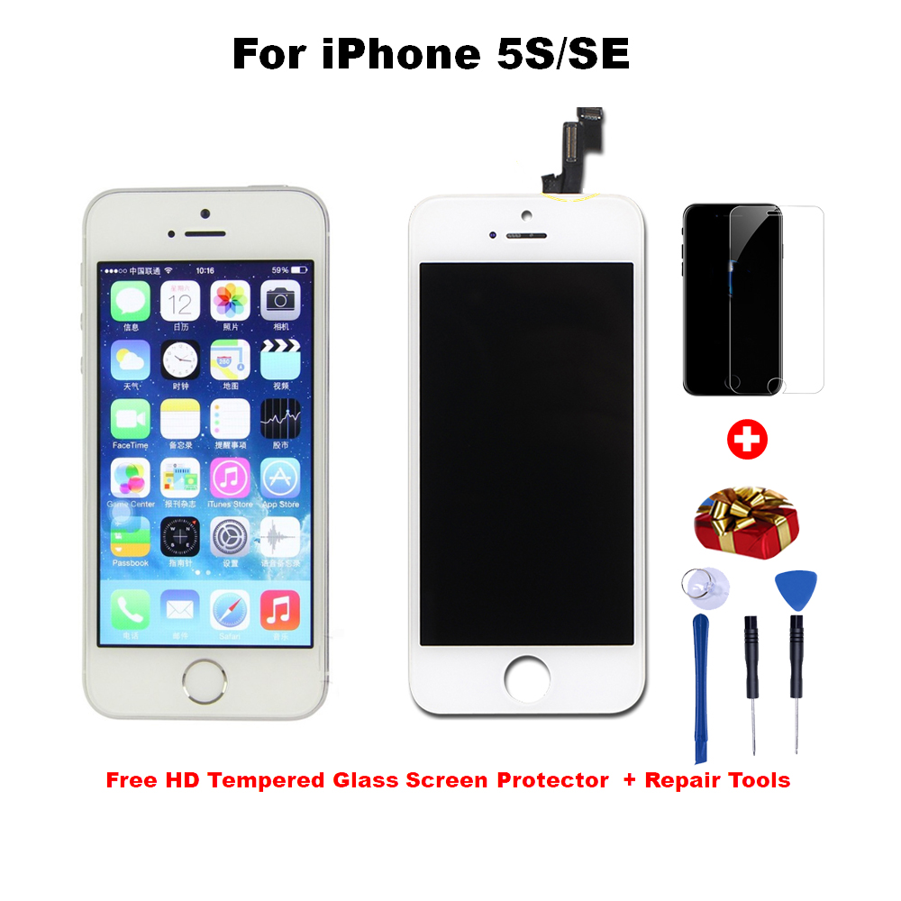 LCD Display For iPhone 6 7 8 6S Plus Touch Screen Replacement For iPhone 5S No Dead Pixel+Tempered Glass+Tools AAA+++(China)