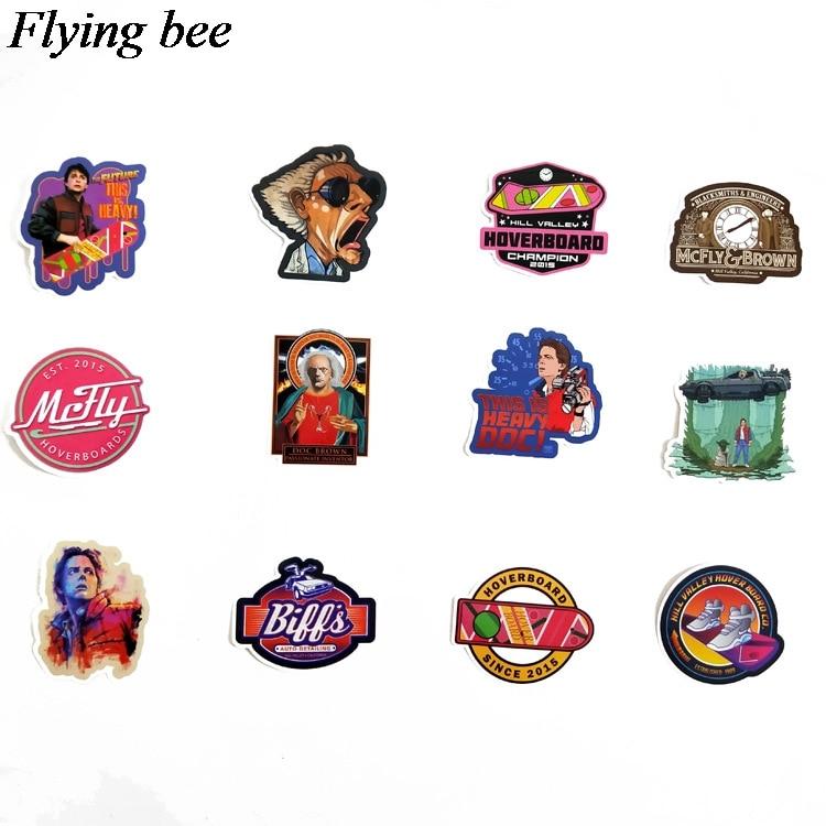 טלוויזיות 25 29 Flyingbee 57 יח חוזר מדבקות בעתיד מדבקות Waterproof עבור חדר שנת מדבקות מדבקות מחשב נייד רכב החפץ קישוט X0701 (3)