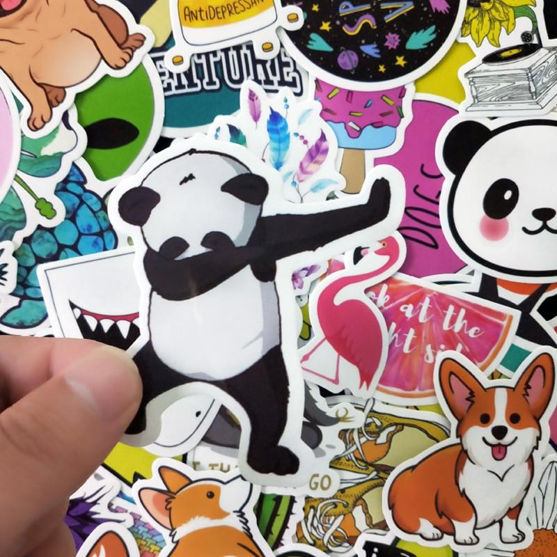 Water Bottle Stickers | 50 Pack | Cute, Waterproof, Vsco Girl, Teen, Girl Fashion Stickers | Great For Kettle, Laptop, Mobile, T
